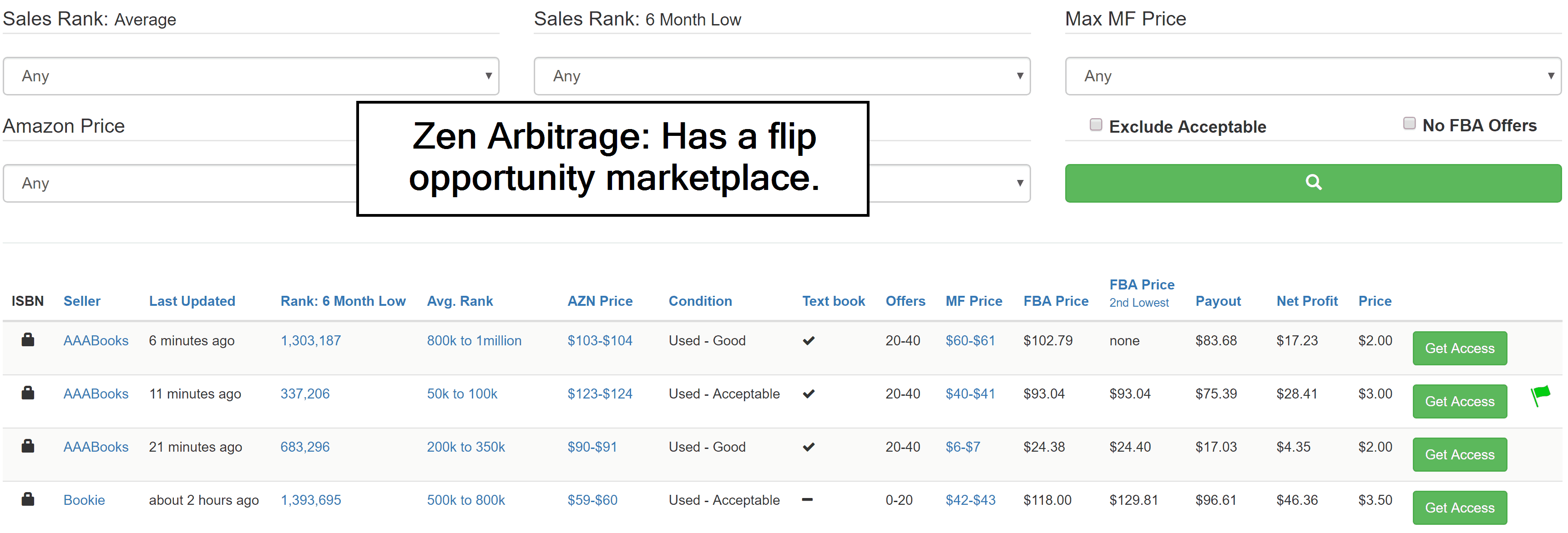 Zen Arbitrage has a flip opportunity marketplace